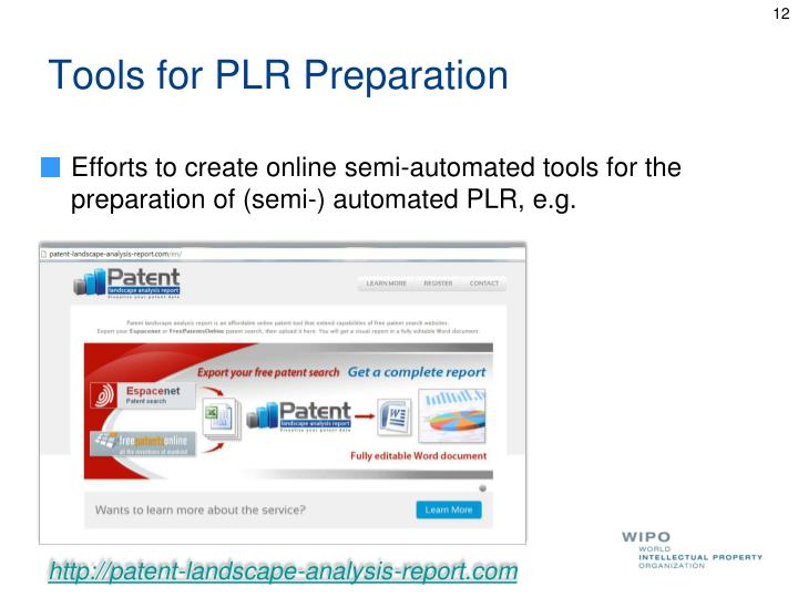 Tools for PLR