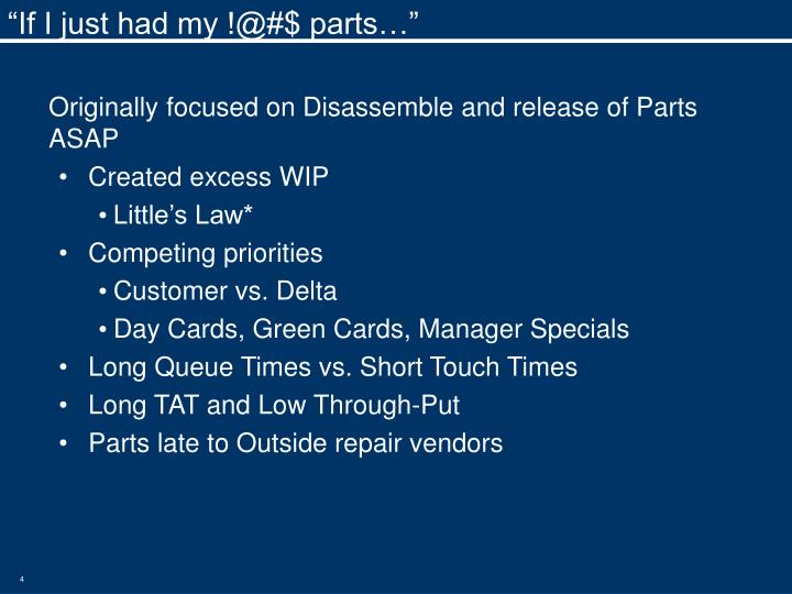 """""""If I just had my !@#$ parts…"""""""