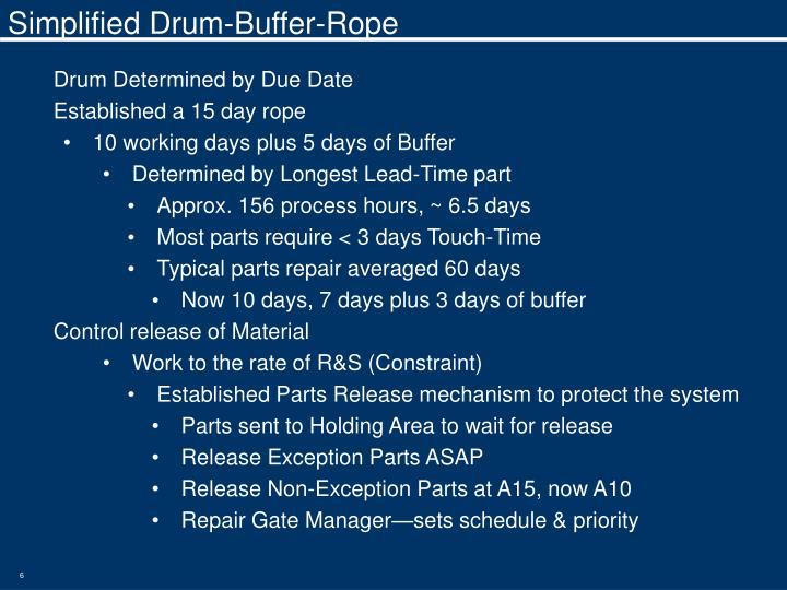 Simplified Drum-Buffer-Rope