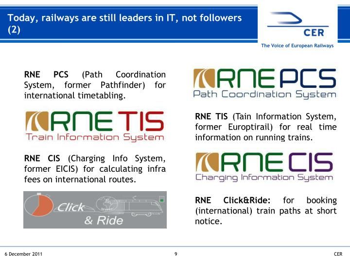 Today, railways are still leaders in IT, not followers (2)