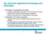 5g dynamic adjustment strategy and principles