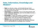 data information knowledge and wisdom