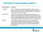 examples of poor system quality 1
