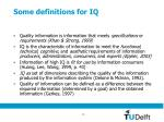some definitions for iq