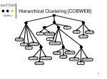 hierarchical clustering cobweb