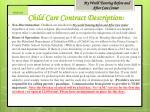 child care contract description 1