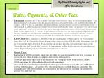 rates payments other fees 2