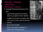 social issues sweatshops workplace safety