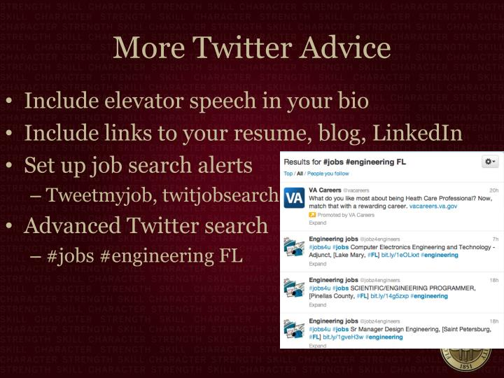 More Twitter Advice