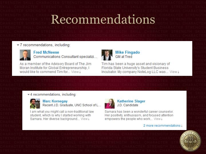 Recommendations