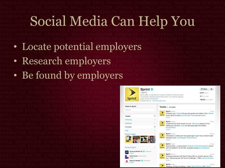 Social Media Can Help You