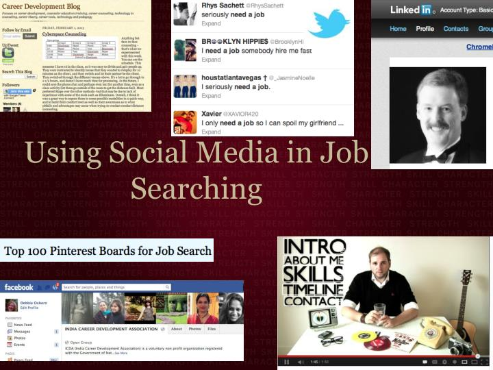 Using Social Media in Job Searching
