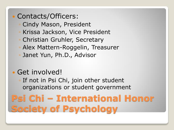 Contacts/Officers: