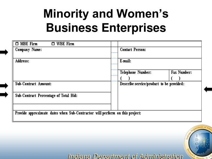 Minority and Women's Business Enterprises