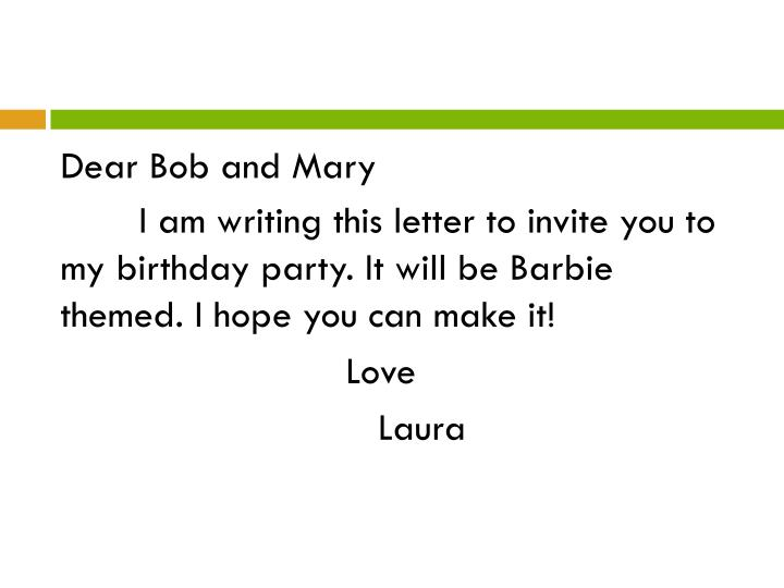 Dear Bob and Mary