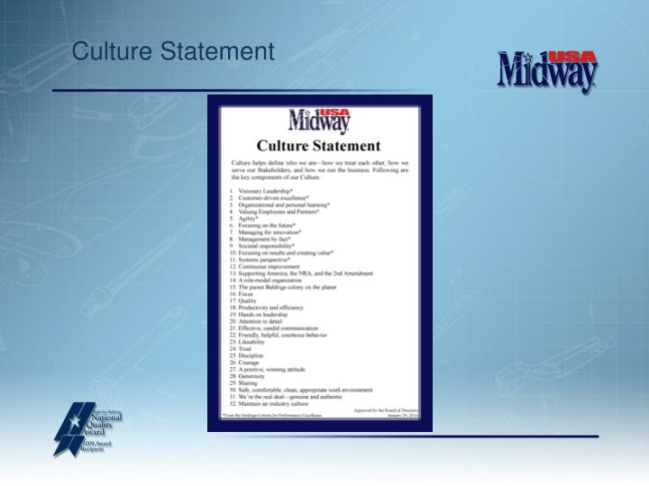 Culture Statement