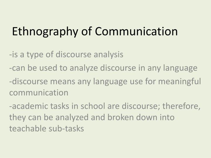 Ethnography of communication1
