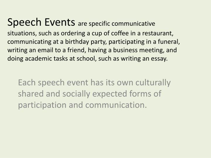 Speech Events