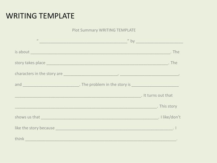 WRITING TEMPLATE