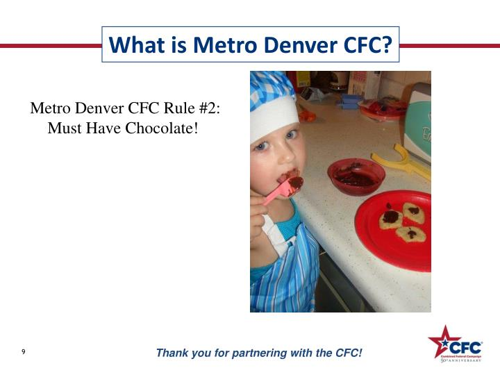 Metro Denver CFC Rule #2: