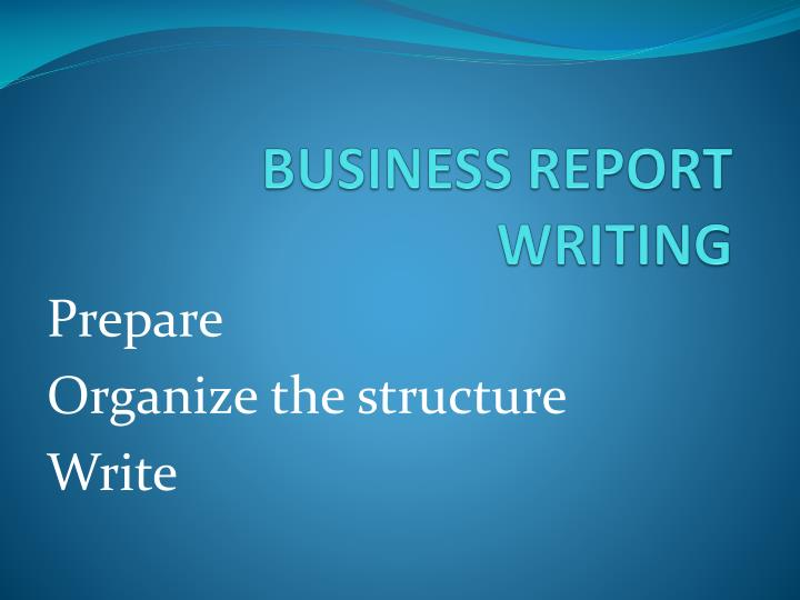 business report writing n.