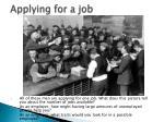 applying for a job