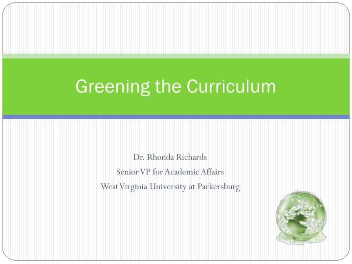 greening the curriculum n.