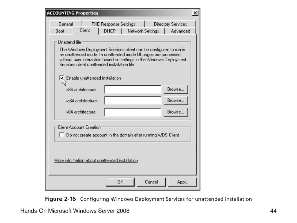 PPT - Windows Server 2008 Chapter 2 PowerPoint Presentation