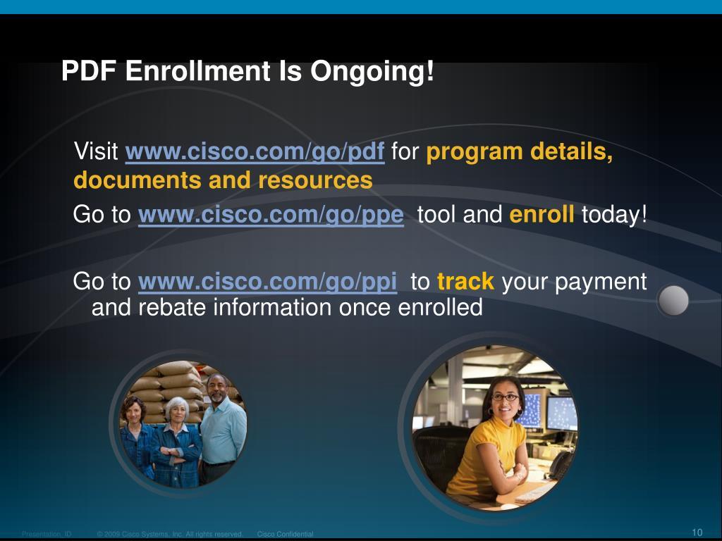 PPT - Cisco Partner Development Funds (PDF) for Small