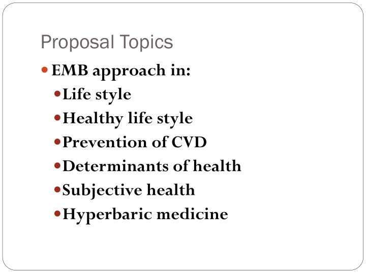 Proposal Topics