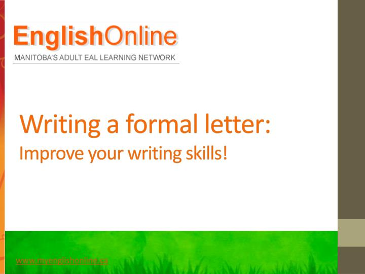 writing a formal letter improve your writing skills n.