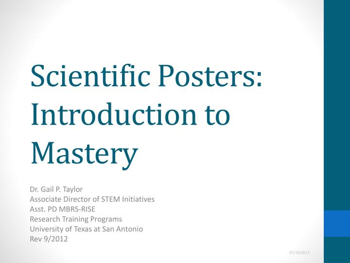 scientific posters introduction to mastery n.