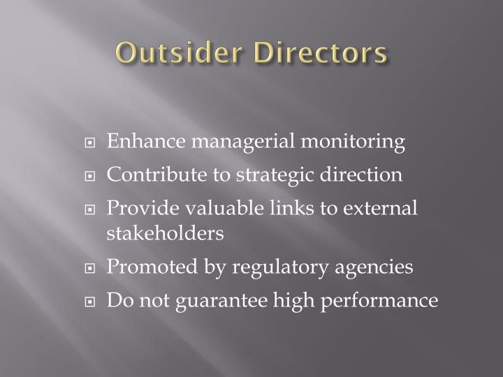 Outsider Directors