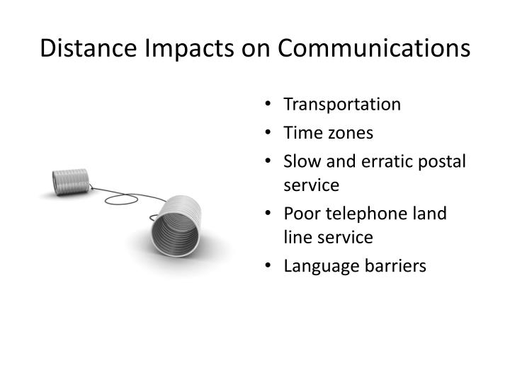 Distance Impacts on Communications