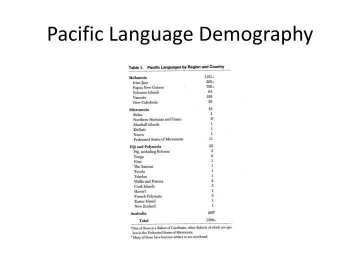 Pacific Language Demography
