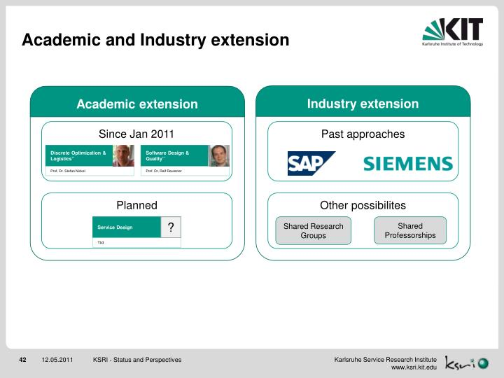 Academic and Industry extension