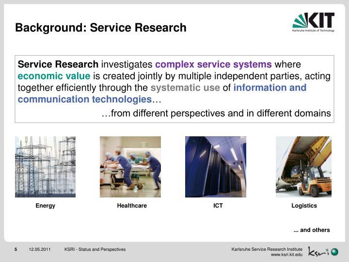 Background: Service