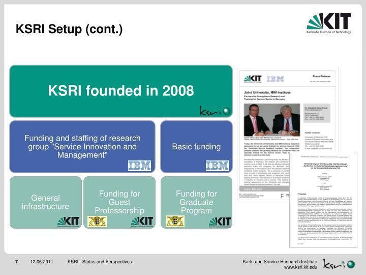 KSRI Setup (cont.)