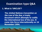 examination type q a