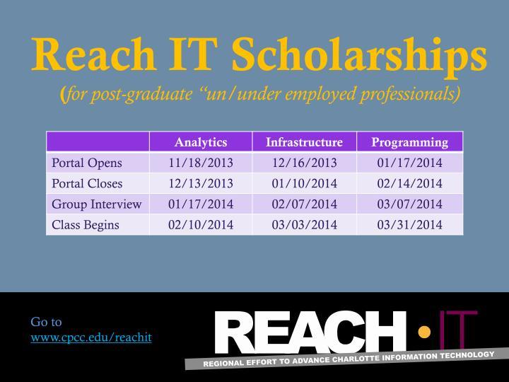 Reach IT Scholarships
