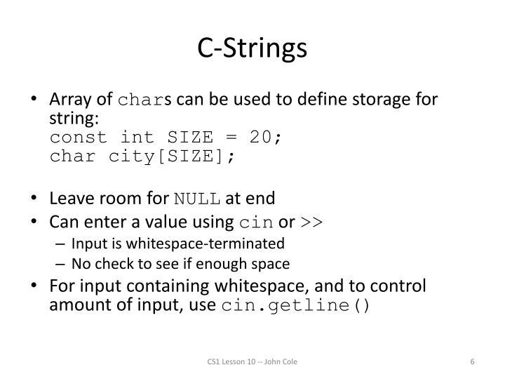 C-Strings