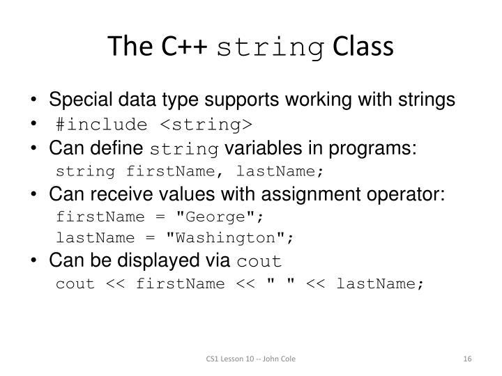 The C++