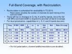 full band coverage with recirculation