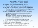 key evla project goals