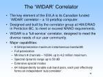the widar correlator