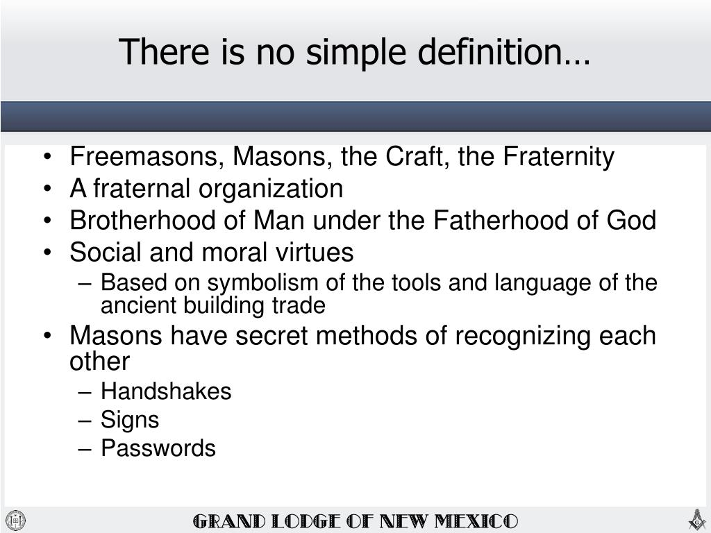 PPT - Who are the Freemasons? – What d o they do and why