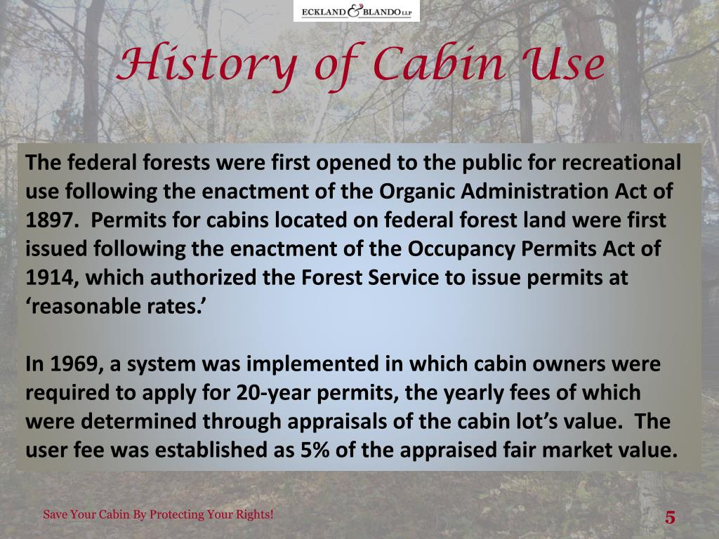 PPT - Read here to learn how owners of cabins located on