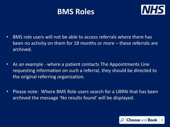 BMS Roles