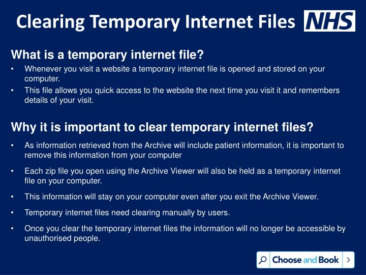 Clearing Temporary Internet Files