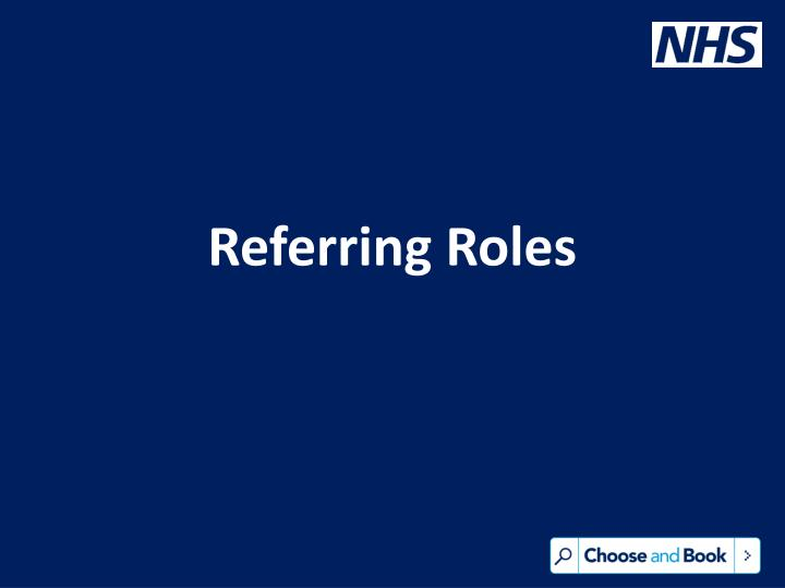 Referring Roles